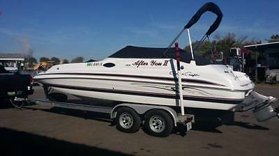 1999 Chris-Craft 230 Sport Deck WITH Bimini Cover AND Trailer -VERY LOW HOURS!