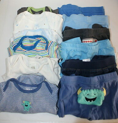 Baby Boys Newborn 0-3/3 Months Clothing Outfits Lot of 12