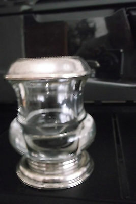 Frank M Whiting Sterling Silver & Crystal Toothpick Holder