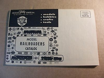 1957 Model Railroaders Catalog--Near Mint Condition