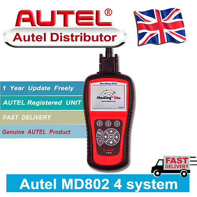 New Autel MD802 Maxidiag Elite Advance Graphing OBD2 Scan and Code Clearing Tool