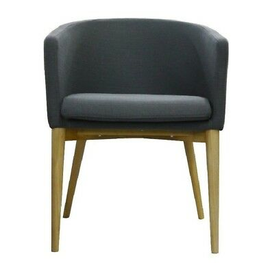 Cafe Lounge TUB CHAIR Pub Seats Armchair Furniture Chairs KENDALL Grey