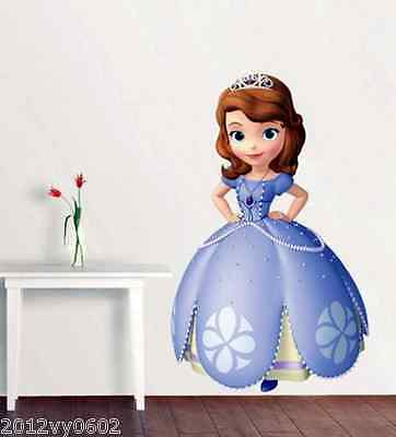 Disney Princess Sofia The First Girl Wall Sticker Room Birthday Gift Decal Art