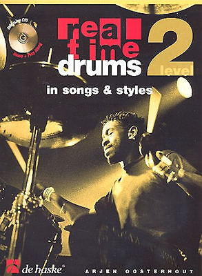 Real Time Drums in Songs and Styles - Level 2 (+CD) : für Schlagzeug
