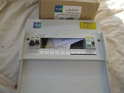 Alto Al2741 9  Way Splitload Consumer Unit With 80 Amp Rcd & 100 Amp Mainswitch.