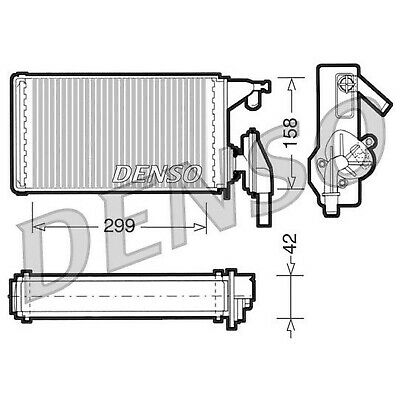 DENSO Heater Core Element - DRR12002 - Interior Heating - Genuine OE Part