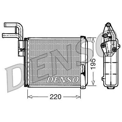 DENSO Heater Core Element - DRR09032 - Interior Heating - Genuine OE Part