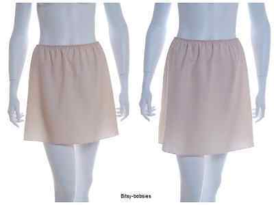"Ladies stay cool Short Nude half slip 16"" 18"" sizes 10 12 14 16 18"