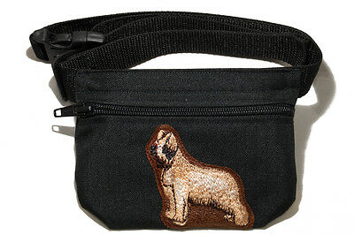 Embroidered Dog treat pouch/bag. Breed - Briard