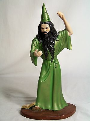 Vintage Hand Painted 14 inch Ceramic Evil Wizard Statue Excellent Condition!