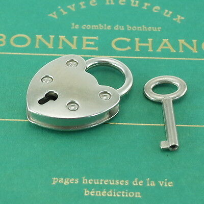 Vintage Style SILVER COLOR Mini Padlock With Keys