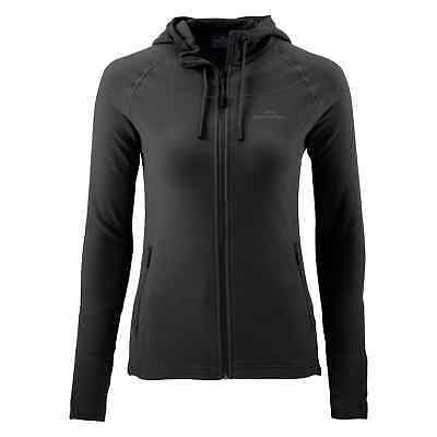 Kathmandu Arenha Womens Polartec Long Sleeve Warm Fleece Hooded Jacket Black