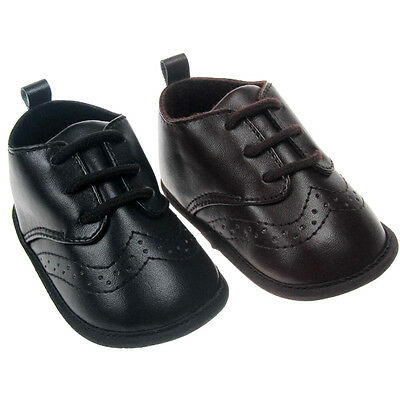 Baby Boy Pre-walker PU Formal soft sole shoe with laces for Special ocassions