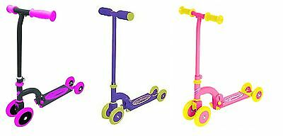 Ozbozz MY FIRST Scooter Kids Folding Push Adjusts 4 to 2 Wheels for Ages 2+ new