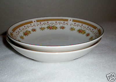 """2-Pc. Empress Fine China Fruit Bowls """"Normandy"""" Pattern #1032 - Made in Japan"""