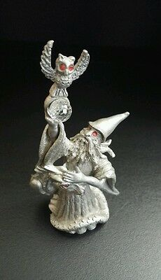 Spoontiques Pewter Wizard With Owl and Serpent