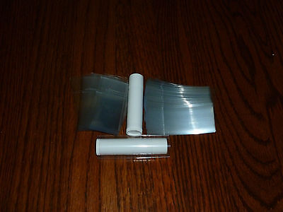 50 Clear SHRINK WRAP BANDS for lip balm (Chapstick) tubes - safety seals
