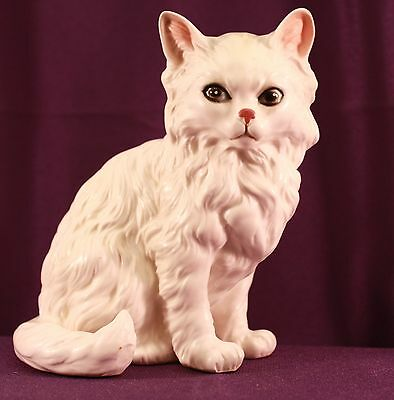 Vintage LEFTON Ceramic Porcelain PERSIAN CAT Figurine H1514 JAPAN