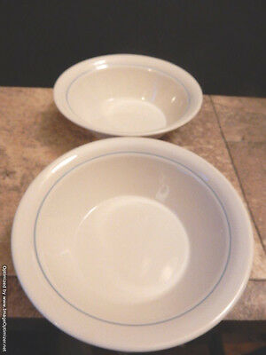 """Corelle Country Promenade Geese Set of 2 Coupe Bowls 6-3/4"""" x 2"""" Made In The USA"""