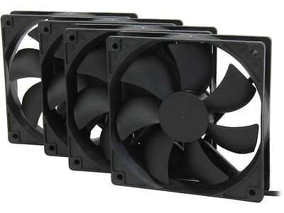 120mm Computer Case Cooling Fan Silent 4 Pack Rosewill