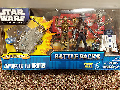 Star Wars The Clone Wars Battle Packs CAPTURE OF THE DROIDS 4-pack 2011