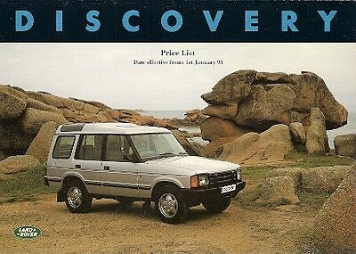 Land Rover Discovery 1993 UK Market Prices & Options Brochure Tdi V8i S