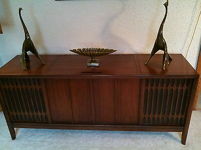 Mid Century Walnut Stereo Console  Mid Century Modern   Gorgeous Piece !