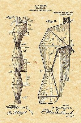 Patent Print - Antique Fire Escape 1909 - Art Print. Ready To Be Framed!