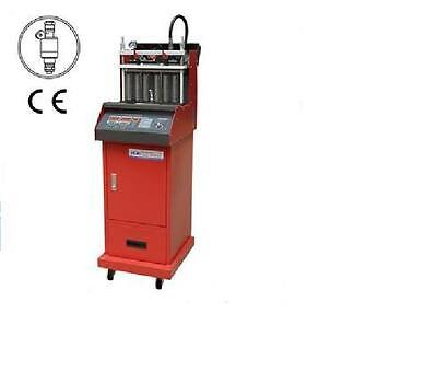 LED Fuel Injector Tester & Cleaner w/Tool Trolley Built-in Ultrasonic Cleaner