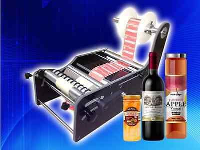 Promotion!!New Manual Round Bottle Labeling machine TB-26 Label width:10-210mm