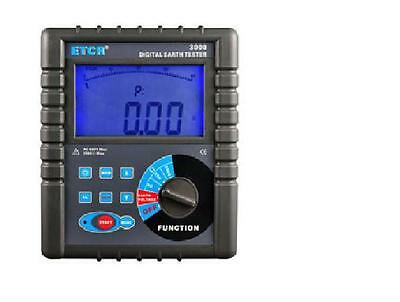 ETCR3000 Digital Clamp On Ground Earth Resistance Tester Meter-New