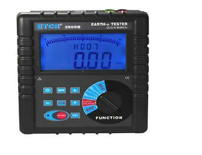 ETCR3000B Digital Clamp On Ground Earth Resistance Tester Meter