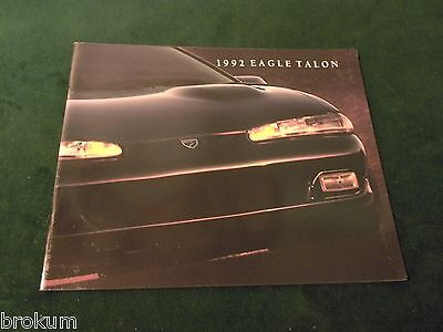 1992 Eagle Talon Sales Brochure Original W/ Color Chart (Box 418)
