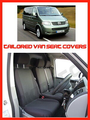 VW T5 transporter tailored seat covers   1+2   grey 3
