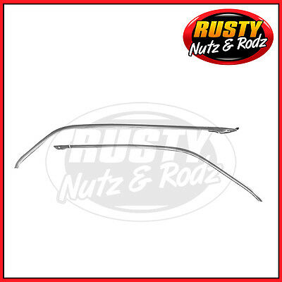 66-67 Chevelle 2-Dr Ht Headliner Side Moldings Pair With Clips