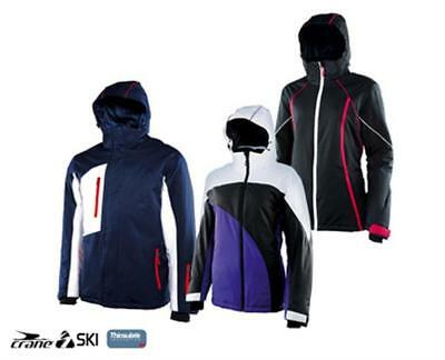 Mens & Ladies Ski Jacket -Back Body Lined With Fleece - Stowable Hood in Collar