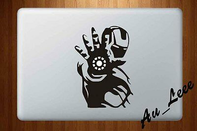 MacBook Decal Vinyl Sticker Apple Logo Pro Retina Air Laptop Iron Robot M428