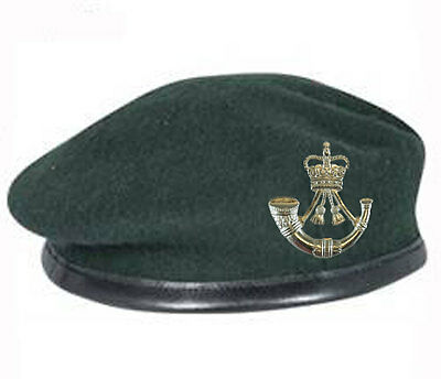 Official High Quality Dark ( Rifle ) Green Beret and Issue Cap Badge ALL SIZES