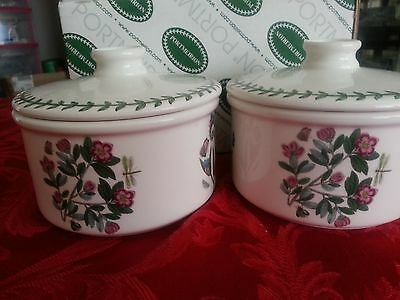 "New Portmeirion Botanic Garden 5"" Individual Covered Casserole  Set of 2"