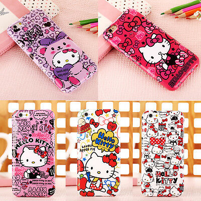 New Arrival Cute Cartoon Hello Kitty Soft TPU Case Cover for iPhone 6 Plus / 6