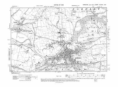 Old Map of Otley, Weston , Yorkshire in 1909- Repro 187 NW