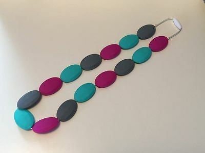 Silicone Teething / Nursing Necklace (bpa Free Beads) Color Options