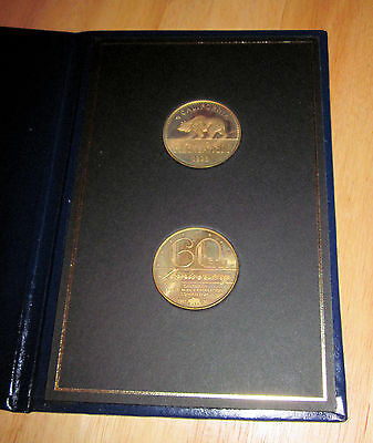 CA Dept Parks & Recreation Commission 60th Anniversary medallions