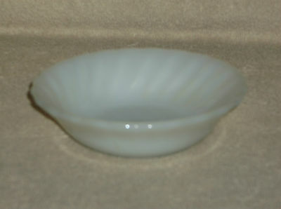 Fire King White Shell Berry Ice Cream Bowl