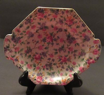 """Royal Winton Grimwades """"Old Country Cottage"""" Chintz Small Tab Handled Bowl"""