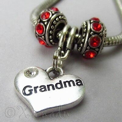 ec90f45de1f31 SON EUROPEAN HEART Charm And Birthstone Beads For Large Hole Charm ...