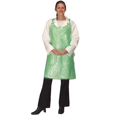 Disposable Plastic Aprons GREEN Polythene Aprons Eco Flat Pack of 100