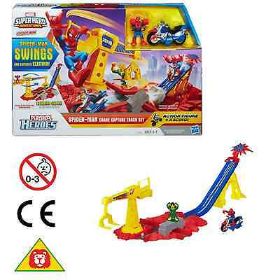 Playskool Heroes Marvel Super Hero Adventures Spider-Man Crane Capture Track