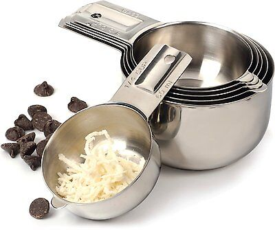 RSVP Endurance  6-Piece Stainless Steel Nesting Measuring Cup Set  (NCP-6)