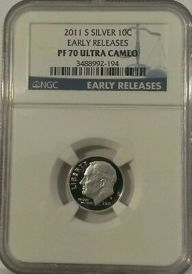 2011 S Silver Proof Roosevelt Dime NGC PF70 ULTRA CAMEO Early Releases